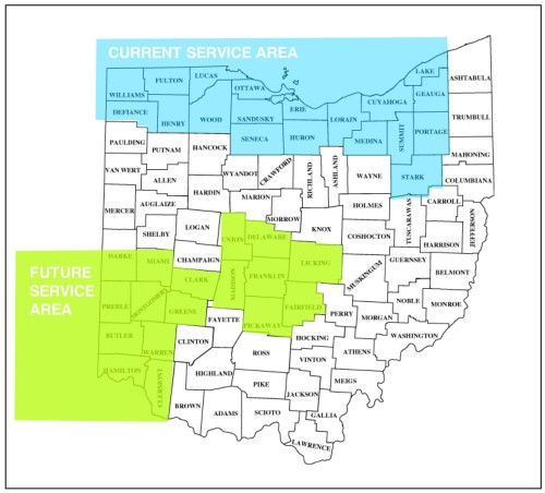 Serving all of Ohio including Cleveland, Akron, Canton, Sandusky and Toledo
