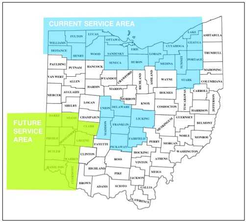 Serving all of Ohio including Cleveland, Akron, Canton, Columbus,Sandusky and Toledo